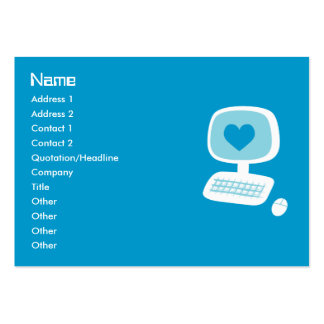 Computer Heart Business Cards Chubby Business Cards
