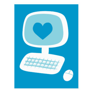 Computer Heart Post Card