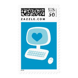 Computer Heart Postage