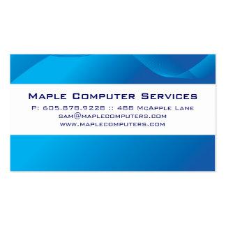 Computer Hi-Tech Business Card Blue