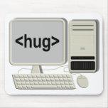Computer Hug Mousepad