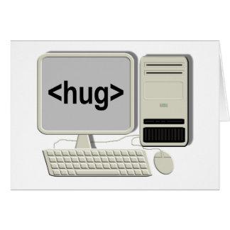 Computer Hug Note Card