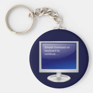 Computer Humor II Basic Round Button Keychain