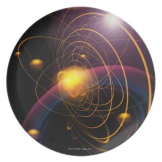 Computer illustration technique 2 melamine plate
