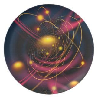 Computer illustration technique dinner plate