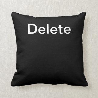 Computer Key Delete (Black) Throw Pillow