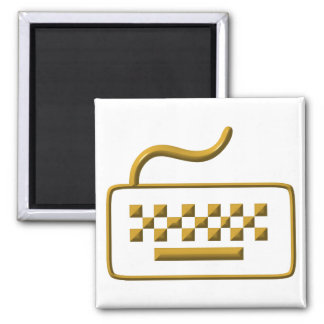 Computer Keyboard 2 Inch Square Magnet