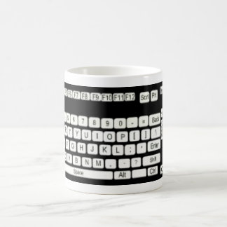 Computer Keyboard Art Fun Classic White Coffee Mug