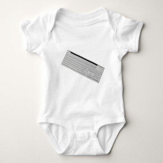 computer keyboard baby bodysuit