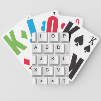 Computer Keyboard Bicycle Playing Cards