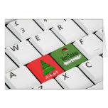 Computer Keyboard Christmas Card at Zazzle