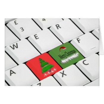 Computer Keyboard Christmas Card by HolidayBug at Zazzle
