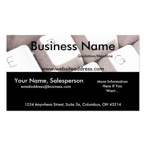 Computer Keyboard Design 1 Business Card