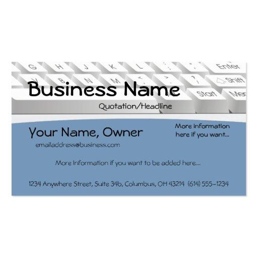 Computer Keyboard Design 2 Business Card