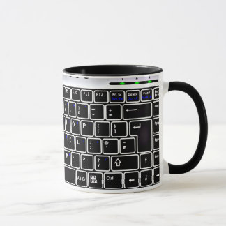 Computer Keyboard Design Coffee Mug