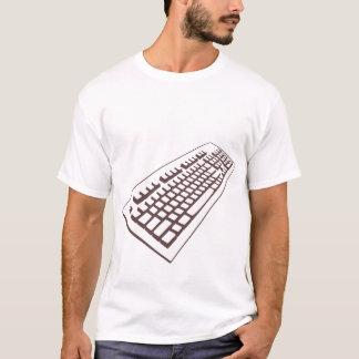 Computer keyboard geek girl live t shirt