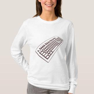 Computer keyboard geek girl long sleeve hoody