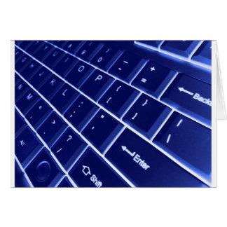 computer keyboard greeting cards
