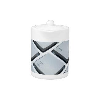 Computer Keyboard Keys - Electronic Print Teapot