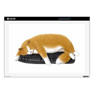 Computer Keyboard Loving Cat Laptop Skin