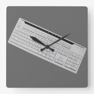 computer keyboard square wall clock