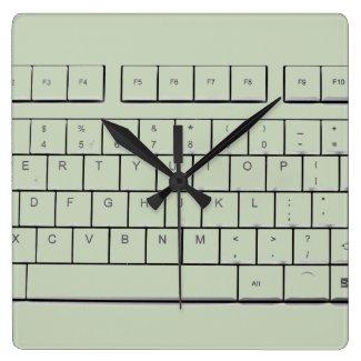 computer keyboard square wall clocks