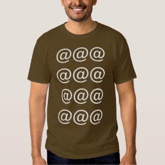 Computer Keyboard Symbol @ tee Shirts