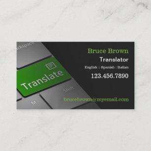 Interpreter business cards zazzle computer keyboard translator business card reheart Images