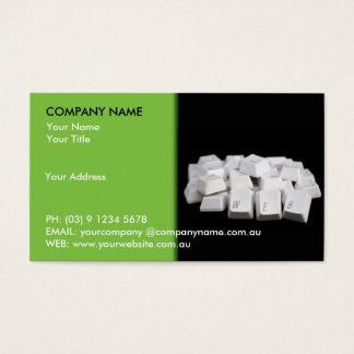 Computer Keys Business Card