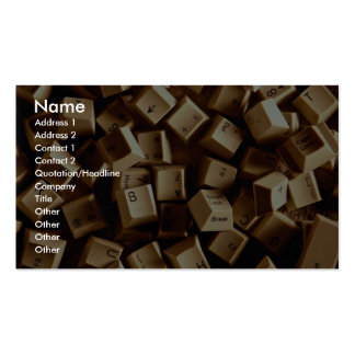 Computer keys Double-Sided standard business cards (Pack of 100)