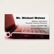 Computer Laptop Keyboard Technician Teacher Info Business Card at Zazzle