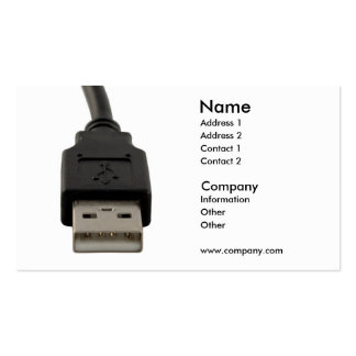 Computer lead business card