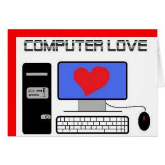 Computer Love Greeting Card