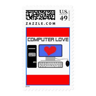Computer Love Postage Stamp