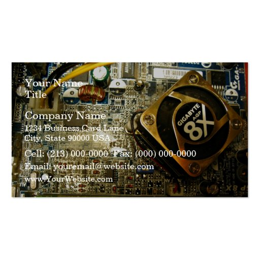 Computer mainboard Double-Sided standard business cards (Pack of 100)