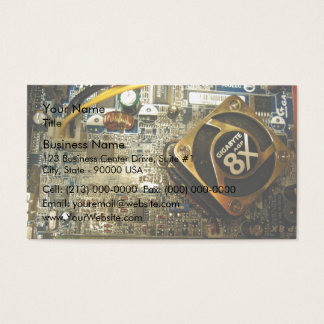 Computer mainboard business card