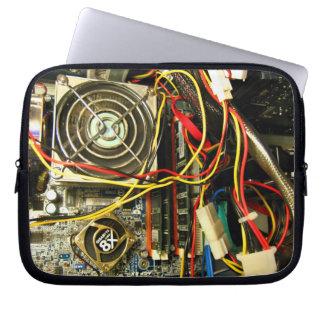 Computer mainboard electronics closeup computer sleeves