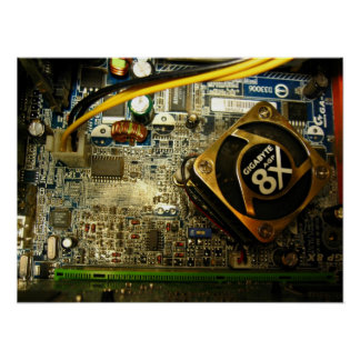 Computer mainboard poster