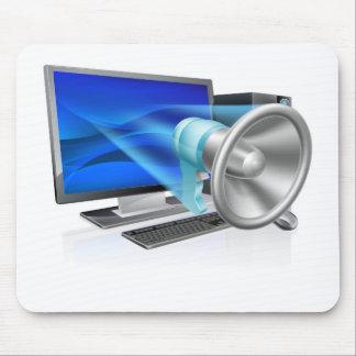 Computer megaphone concept mouse pads