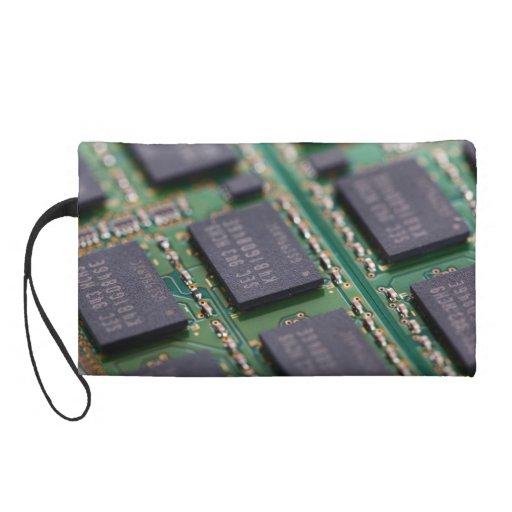 Computer Memory Chips Wristlet Purses