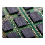 Computer Memory Chips Postcard