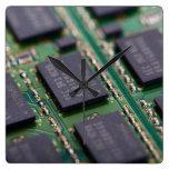 Computer Memory Chips Wall Clocks