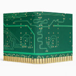 Computer memory plate 3 ring binder