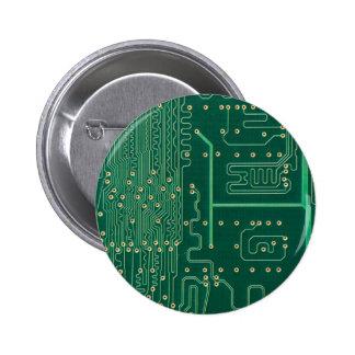 Computer memory plate pinback button