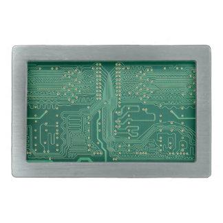 Computer memory plate rectangular belt buckle