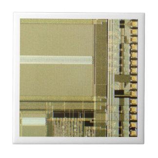 Computer Microchip Small Square Tile
