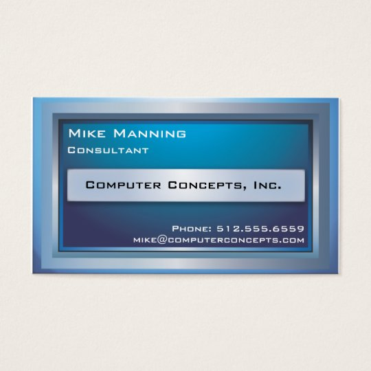 Computer Monitor Business Card