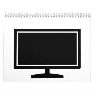 Computer monitor calendar