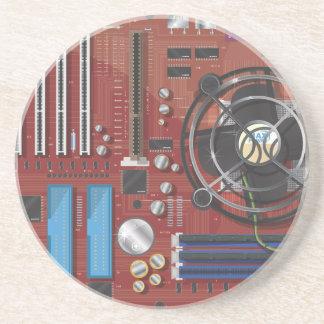 Computer Motherboard Beverage Coaster