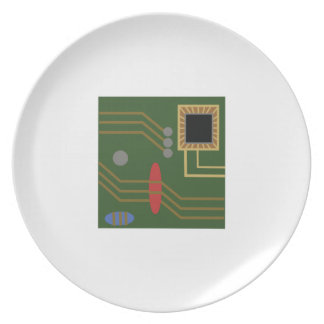 Computer Motherboard Party Plates